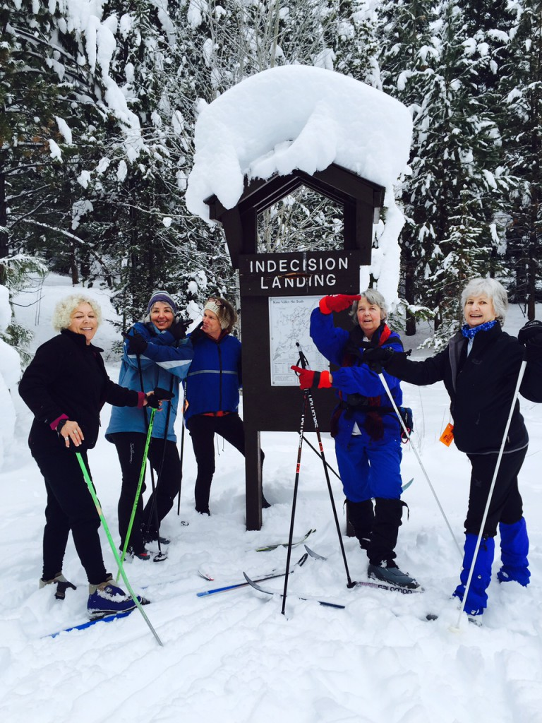 Nicola Nordic skiers out in the snow, taken back in January by Lorna Latremouille.