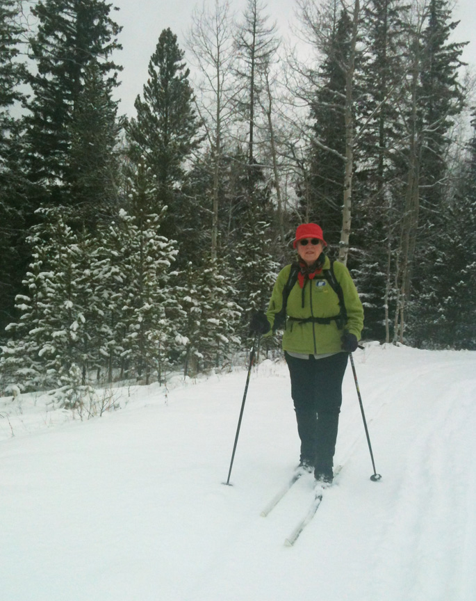 Life Member Katharine Shewchuk is the first to test the trails this winter!  Photo: © Murphy Shewchuk